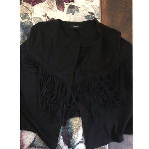 Black fringe casual jacket! ⚫️🖤